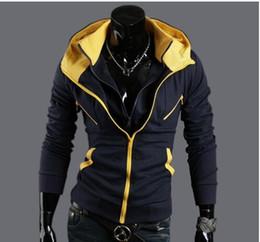 Wholesale Mass Effect Hoodie - Wholesale free shipping Hoodie Zipper Designer Mass Effect Slim Fit Hip Hop Mens Hoodies Sweatshirts College Jacket Coats