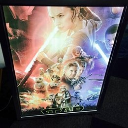 Wholesale Up Profile - Clip Frame Movie Poster Lighted Up Signs,Home Theater Light Box A1 Snap Aluminum Profile Frame