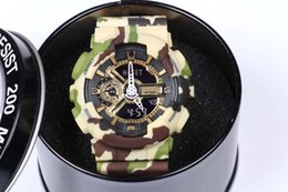 Wholesale New Digital Camouflage - high quality Women' men's sprot watch g110 , LED Watch, military camouflage watch, digital watch