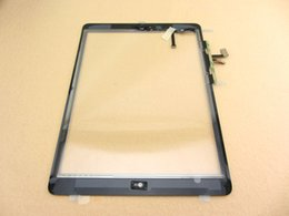Wholesale Apple Ipad Camera - For iPad Air iPad 5 Digitizer Assembly Touch Screen Glass Panel Tactil Ecran Replacement Original Home Button Flex Camera Holder Adhesive