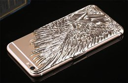 Wholesale Iphone Wings Cases Fashion Wholesale - For Apple Iphone 6 6Plus6 Fashion Cell Phone Case Angel Wings Plastic Sell Phone Luxurious Popular Mobile Phone Cases Covers