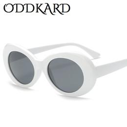 Wholesale Kurt Cobain Nirvana - ODDKARD Nirvana Kurt Cobain Party Fashion Sunglasses For Men and Women Popular Brand Designer Oval Sun Glasses Oculos de sol UV400