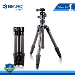 Wholesale Carbon Fiber Camera Bag - Benro C2690TB1 Professional Carbon Fiber Tripod For Camera With B1 Ball Head Carrying Bag Kit Max Loading 12kg DHL Free Shipping
