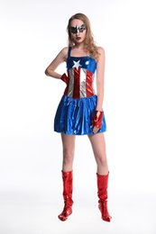 Wholesale Captain Games - Halloween the anime hero superman movie clothing Captain America Superwoman game