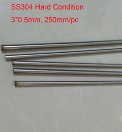 Wholesale Industry Tube - 3x0.5mm Hard Condition SS304 Stainless Steel Capillary Pipe Small Industry DIY Tube about 300mm pc, 5pcs lot