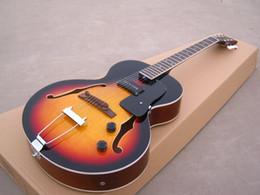 Wholesale Es Semi Hollow - OEM Guitar New Arrival hollow body ES 125 electric guitar tobacco burst, high grade!