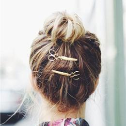 Wholesale Wholesale Designer Hair Clips - Brand Designer Jewelry Hairpins Gold Silver Scissors Hair Clip For Hair Tiara Barrettes Women Hair Accessories