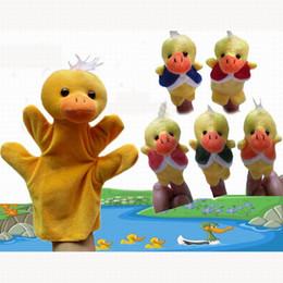 "Wholesale Nursery Rhyme Plush Toys - 30pcs lot (1 Hand Puppet+5 Finger Puppets) The Nursery Rhyme Finger Puppets ""Five Little Ducks"" Finger Toys For Kids Baby Toys t"