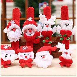 Wholesale Old Jewelry - 12 pieces   lot Christmas jewelry watch Christmas snowman old man deer wrist decoration toy pat film Christmas decoration wholesale