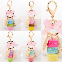 Wholesale Cute Keychains For Car Keys - 2017 Macaron Eiffel Tower Alloy Cute Pendant Bag Charm Purse Keychain Keyring For Women Fashion Ornament Gift B784Q