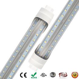 Wholesale Two Gs - Free Shipping LED Tube V shaped Bulb 270 angle T8 G13 two pins 2ft 3ft 4ft 5ft AC 90-264V CE UL