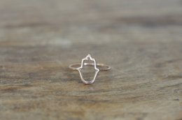 hamsa rings Coupons - 10 PCS lot Hamsa Outline Ring, Simple Outline of Hamsa Hand, joint Ring, wholesale package mailed free of charge