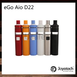 Wholesale Mouthpiece Black - Joyetech eGo AIO D22 Kit 1500mAh D22 Battery Spiral Structure Mouthpiece 2ml Adjustable AirFlow All-In-ONE Childproof Lock 100% Original
