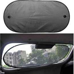 Wholesale Rear Curtain - Wholesale- 100*50cm Car Sun Shade Window Mesh Curtain Auto Sun Shade Styling Covers Rear Window UV Protection Block
