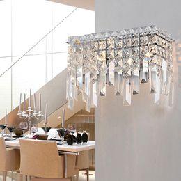 Miroir mural en Ligne-couloir balcon moderne K9 cristal lampe de salle de bains miroir miroir led applique murale lampe de lampe led appliques maquillage chambre cristal luminaires muraux