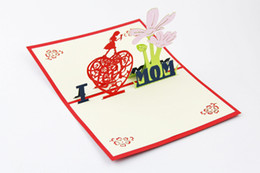 Wholesale Thank 3d - 3d greeting card thanksgiving cards christmas cards thanks mom for greeting cards bessing cards thank you mom