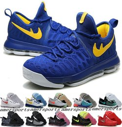 Wholesale Cheaper Kd Shoes - Cheap 2016 new arrival basketball shoes Kevin Durant KD 9 vii white black basket ball sneaker KD9 for men olympic running shoes us7-12