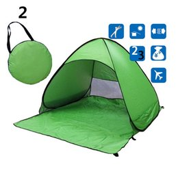 Wholesale Outdoor Tent Camping Persons - Simple Tents Outdoors Tents Camping Shelters for 2-3 People UV Protection Tent for Beach Travel Lawn 10 PCS DHL Fast Shipping