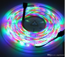 Wholesale Flashing Power Supply - String Lights for Halloween Christmas Decoration with AC 110V 220V Power Supply + 5meter RGB Strips 3528 LED Fairy Lights+ LED Controller