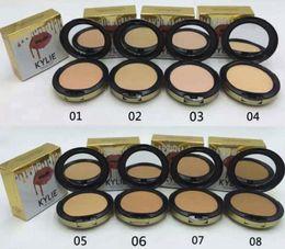 Wholesale Plus Size Puff - New makeup 8 colors face Kylie powder profession makeup high quality Studio Fix Powder Plus Foundation press make up face powder puffs