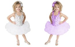 Wholesale Sweet Cute Images - Sweet Pink Ruffles Infant Ball Gowns Cute Baby Mini Skirts White Holy Communion Little Girls Pageant Dresses