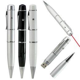 Wholesale Usb Flash Laser - Ballpoint Pen Laser Light USB Flash Drive Memory Stick USB 2.0 Real 2GB 4GB 8GB 16GB USB Flash Drives