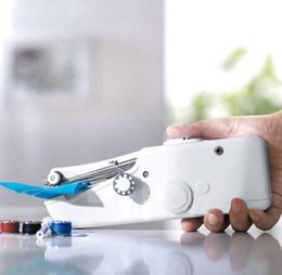 Wholesale Compact Machines - Handheld Sewing Machine Travel Portable Stitching Emergency Repair Essential Compact Mini Small Sewing Machine Quick Cordless Repair KKA2324
