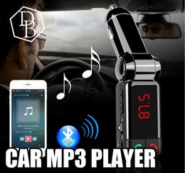 Wholesale Dual Aux - BC06 Bluetooth MP3 Car Charger BT Wide Use Wireless Music Player BC-06 Support TF Card Speaker Mini Dual Ports Charging AUX FM Transmitter