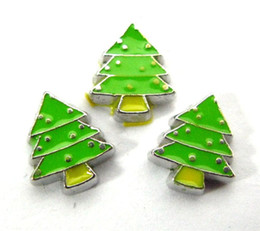 Wholesale Living Designs Wholesale - New Design FC330 floating locket charms 10pcs Christmas tree for floating living locket as gift wholesales free shipping