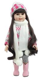 Wholesale Dolls Reborn - Collectible 18 Inch American Girl 45cm Full Vinyl Reborn Baby Doll Lifelike Doll Fashion Kids Playmate Children Gifts