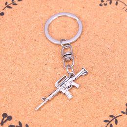 Wholesale Wholesale Assault Rifles - New Arrival Novelty Souvenir Metal machine gun assault rifle Key Chains Creative Gifts Apple Keychain Key Ring Trinket Car Key Ring