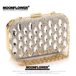 Wholesale Drill Ends - factory sales Custom brand Exclusive handbags high-end glass drill hand bags are dazzling diamond dinner dinner dress female handbags