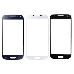 Передний сенсорный экран внешний стеклянный объектив замена частей для Samsung Galaxy S4 mini i9190 белый синий черный от Поставщики s4 мини-стекло переднего стекла