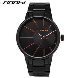 Wholesale Sinobi Casual - Wholesale-SINOBI luxury brand men quartz watch full Tungsten steel Waterproof Business Watch Fashion casual men's relogio masculino 9338