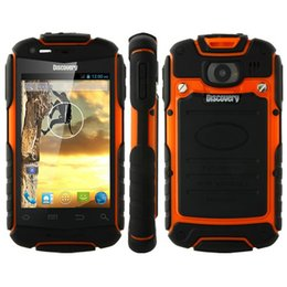 Wholesale Android Smartphone Discovery - Cheap Unlocked 3G Mobile Phone Discovery V5 3.5Inch Rugged Smartphone Dual SIM Android 4.2 512MB RAM 4GB ROM 1500mAh V8 MINI