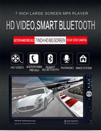 2019 auto armaturenbrett tvs Multi-Funktion 7-Zoll-HD-Touchscreen Bluetooth-fähige Hand kostenlose Auto MP5 Player FM Radio Doppel-Din-DVD-Audio-Video