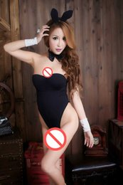 Wholesale Adult Women Costumes - Free shipping sexy leopard three rabbit girl OL stewardess uniforms sexy lingerie Catwoman SM Role Play Set Contains Adult beauty seductive