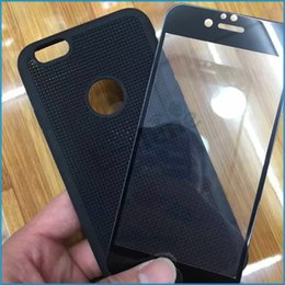Wholesale Iphone 5c Tpu Case Screen - Full Cover Tempered Glass Screen Protector with TPU Mesh Case Cover 2 in 1 Dual Protection For iPhone 6 6S 6 6S Plus SE 5 5C 5S