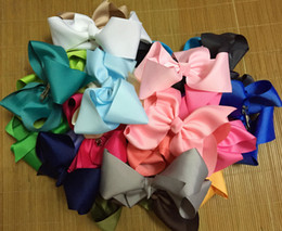 """Wholesale Wholesale Large Hairbows - 50 pcs lot 8"""" extra large girl bows, big bows, hairbows, birthday gift for girl, back to school bows 30 colors to choose"""