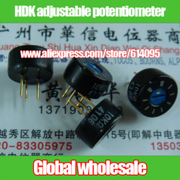Wholesale 5k Potentiometer - Wholesale- 2pcs HDK adjustable potentiometer 100R 300R 500R 1K 2K 3K 5K 10K 20K 30K 50K 100K   12.8MM*6.8MM potentiometer