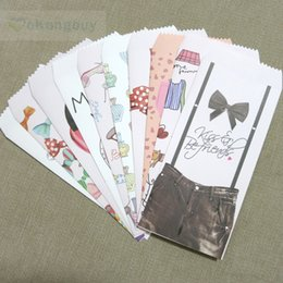Wholesale Card Bag Diy - Wholesale- 10pcs 10 designs Lovely Paper Envelope Cards Party Favors Scrapbooking DIY Gift Envelope Bag