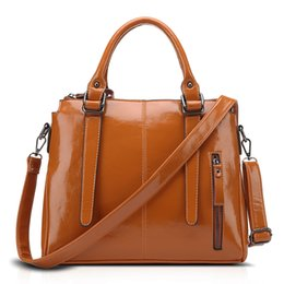 Wholesale Designer Leather Cowhide Handbags - Luxury Handbags Cowhide Leather Bag Girl Women Lady Shoulder Bag Oil Wax Designer Casual Bags Factory Wholesale