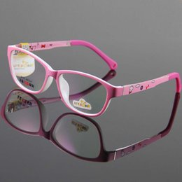 Wholesale Eyeglasses Frame Kids - Kids Eyewear Frames Children Glasses Girls Eyeglasses Spectacles Pink Color Plank Material Durable Cute Plano Demo Lense Optical Vision Care