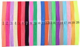 Wholesale Thin Baby Headband Wholesalers - Free Shipping thin elastic headbands baby girls DIY Hair Band Accessories Wide 1.5CM 20 color for choose