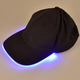 Wholesale party led bulb - Led Party Baseball Hats Luminous Women Men Hockey Snapback Ball Caps Unisex Fiber Optic Hat Visor Tourism for Travel Sports Christmas
