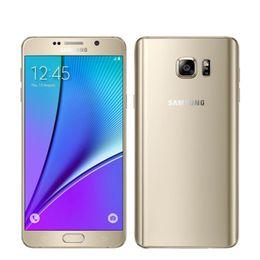 Wholesale Galaxy Note Lte - Original Samsung Galaxy Note 5 N9200 Mobile Phone 5.7'' 4GB RAM 32GB ROM 16MP Octa Core 2.1GHz 2560x1440 Dual SIM 4G LTE