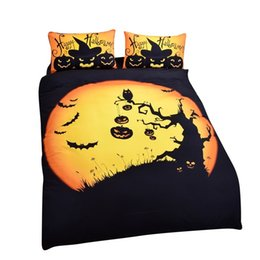 Wholesale Children Washing Machine - Wholesale Halloween Bedding Funny Gift 3D Print Bedlclothes Soft Duvet Cover Set Twin Queen King Free Shipping