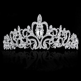corona de diamante tiaras novia Rebajas Tocado de novia Tocado de novia Tocado de boda Boda caliente Adorno de diamante de alto grado Novia Tocado de moda Boda elegante Corona