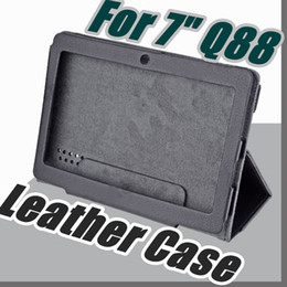 "Wholesale leather case q8 - colorful 7"" flip leather case for Haipad Q88 Allwinner A13 A23 A33 Q8 tablet pc protect skin free shipping"