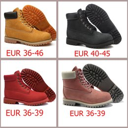 Wholesale Designer Fashion Women Boots - Waterproof yellow black snow boots vintage brand designers men women genuine leather high heel outdoor boots